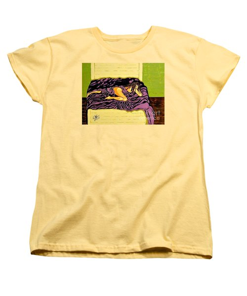 Women's T-Shirt (Standard Cut) featuring the painting Thoughts Of You by Jackie Carpenter