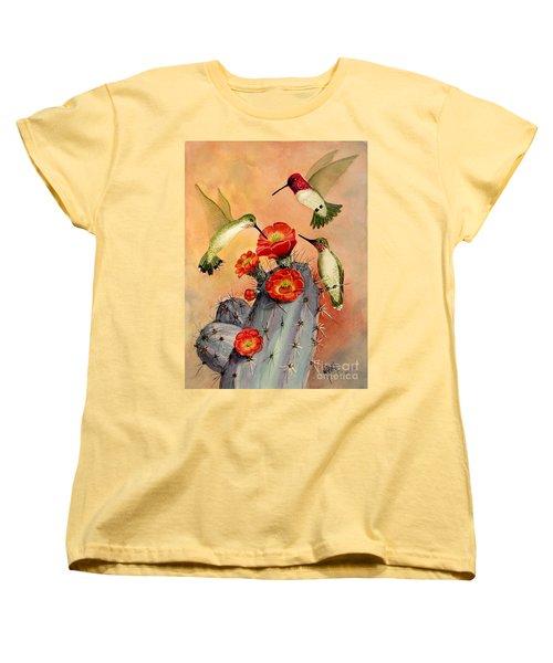 Three For Breakfast Women's T-Shirt (Standard Cut) by Marilyn Smith