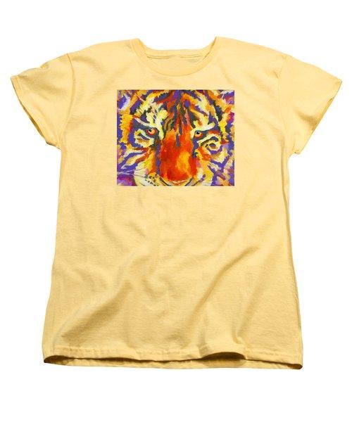 Tiger Eyes Women's T-Shirt (Standard Cut) by Stephen Anderson