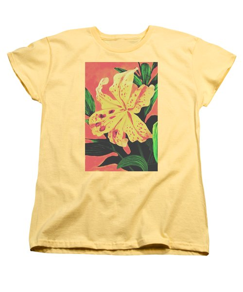 Women's T-Shirt (Standard Cut) featuring the painting Tiger Lily by Sophia Schmierer