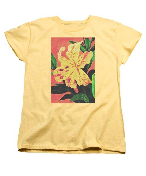 Tiger Lily Women's T-Shirt (Standard Cut) by Sophia Schmierer