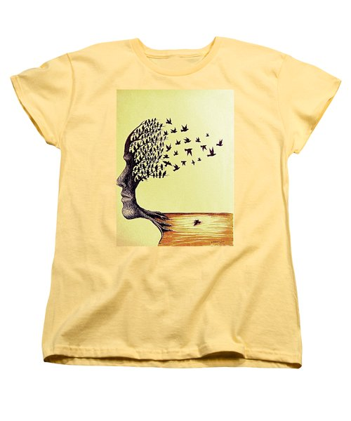 Tree Of Dreams Women's T-Shirt (Standard Cut) by Paulo Zerbato