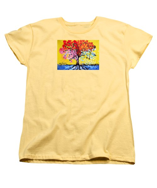 Tree Of Life Women's T-Shirt (Standard Cut) by Ramona Matei