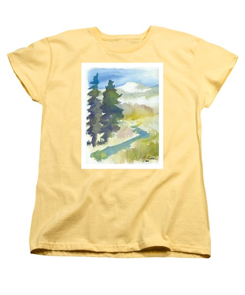 Women's T-Shirt (Standard Cut) featuring the painting Trees by C Sitton