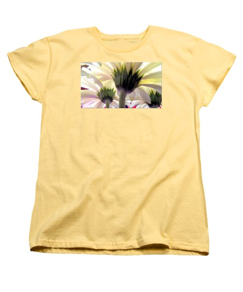 Women's T-Shirt (Standard Cut) featuring the painting Tribute To Daisies by Danielle  Parent