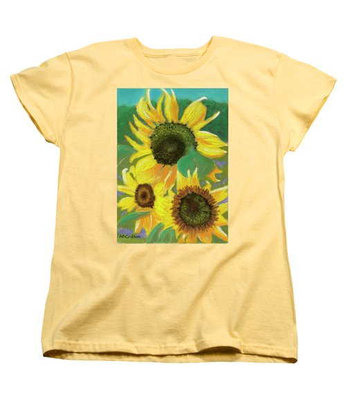 Women's T-Shirt (Standard Cut) featuring the painting Triple Gold by Arlene Crafton