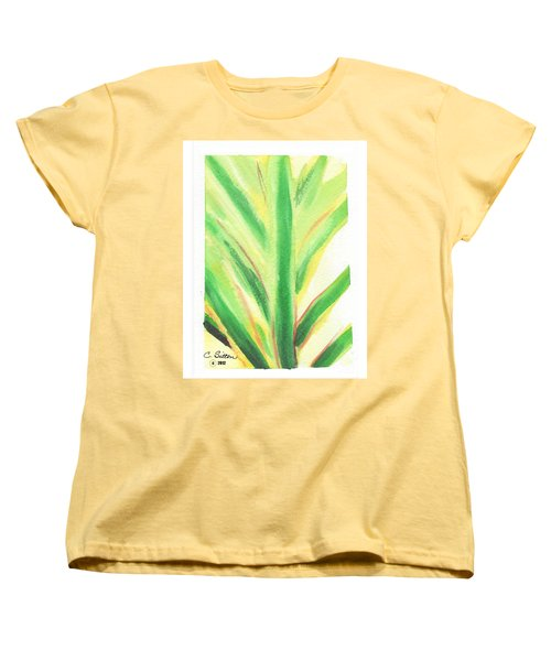 Women's T-Shirt (Standard Cut) featuring the painting Tropical Leaf by C Sitton