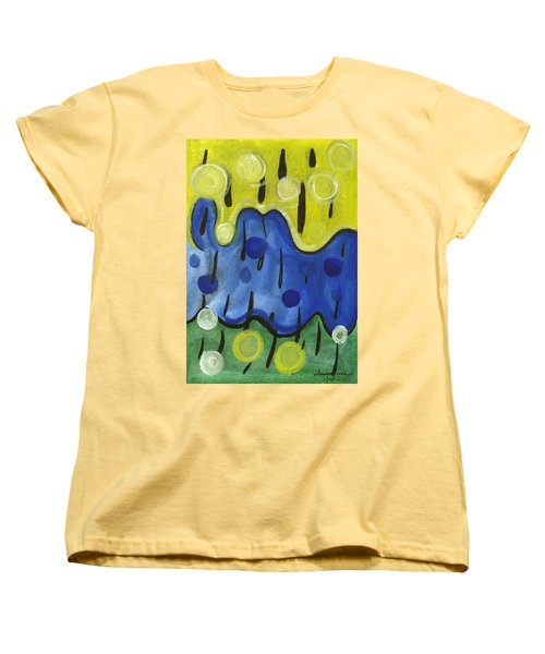 Women's T-Shirt (Standard Cut) featuring the painting Tropical Rain by Stephen Lucas