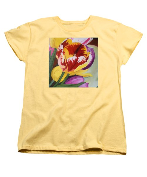 Tulips Women's T-Shirt (Standard Cut) by Claudia Goodell