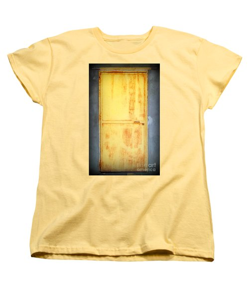 Women's T-Shirt (Standard Cut) featuring the photograph Unused Door by Clare Bevan