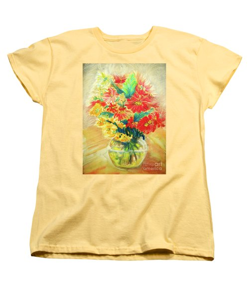 Women's T-Shirt (Standard Cut) featuring the painting Vase by Jasna Dragun