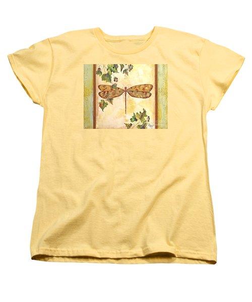 Vineyard Dragonfly Women's T-Shirt (Standard Cut) by Jean Plout