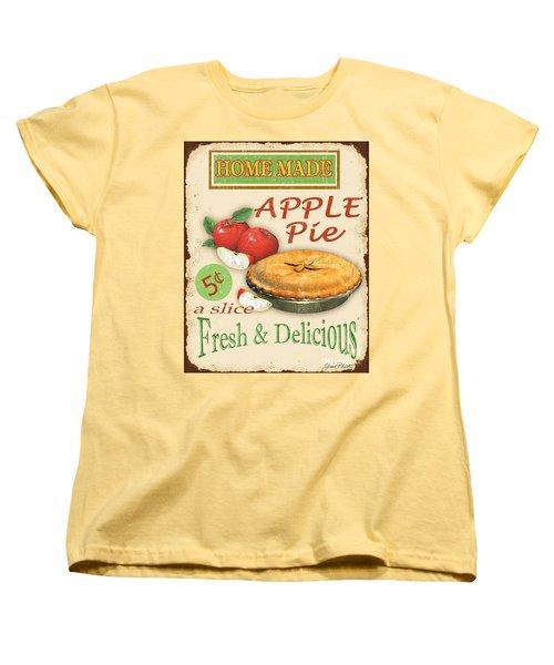 Vintage Apple Pie Sign Women's T-Shirt (Standard Cut) by Jean Plout
