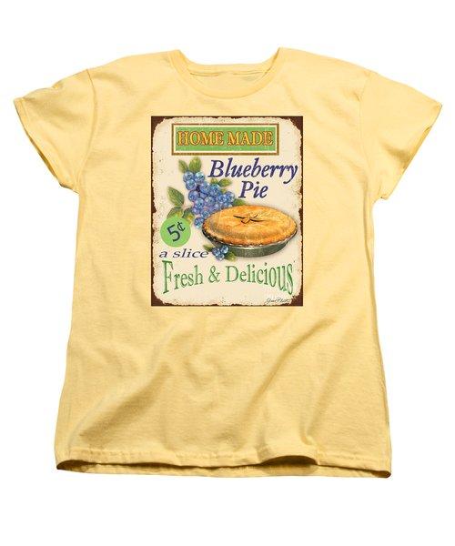 Vintage Blueberry Pie Sign Women's T-Shirt (Standard Cut)