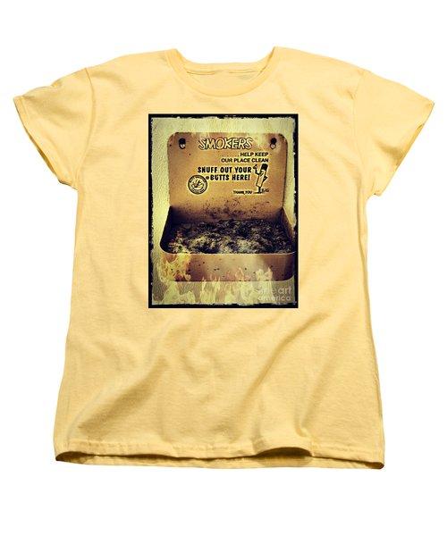 Vintage Mr. Butt Snuffer Ashtray Women's T-Shirt (Standard Cut)