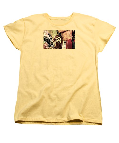 Women's T-Shirt (Standard Cut) featuring the mixed media War Dreams by Ally  White