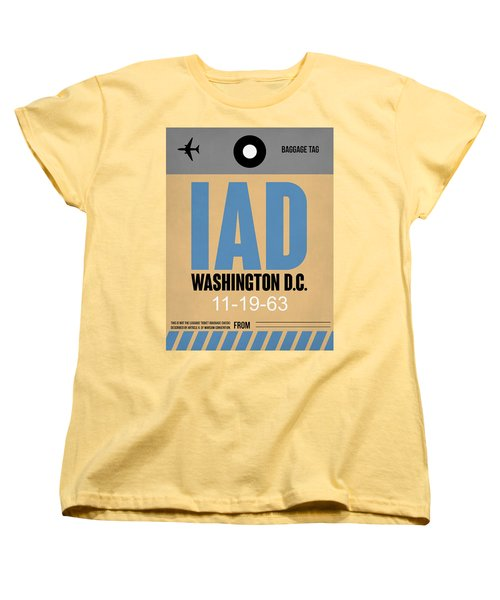 Washington D.c. Airport Poster 3 Women's T-Shirt (Standard Cut) by Naxart Studio