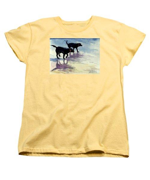 Waverunners Women's T-Shirt (Standard Cut) by Molly Poole