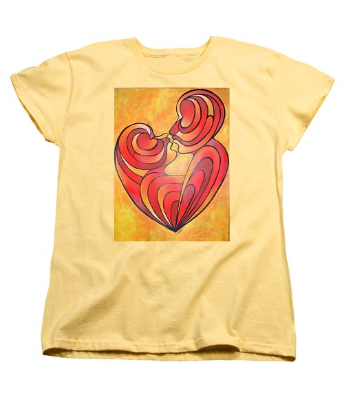 Women's T-Shirt (Standard Cut) featuring the painting We Two Are One by Tracey Harrington-Simpson