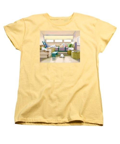 Westie Retreat  Women's T-Shirt (Standard Cut) by Catia Cho