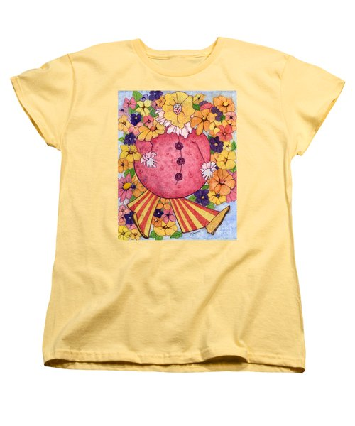 Women's T-Shirt (Standard Cut) featuring the painting Whimsy On Parade  by Barbara Jewell