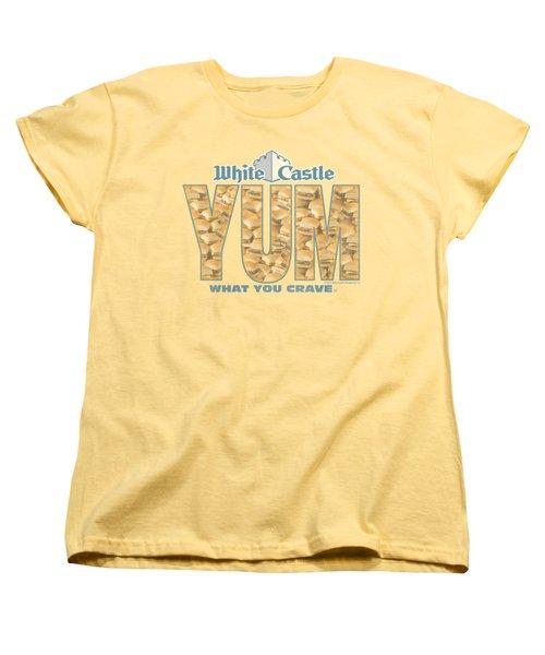 White Castle - Yum Women's T-Shirt (Standard Cut) by Brand A