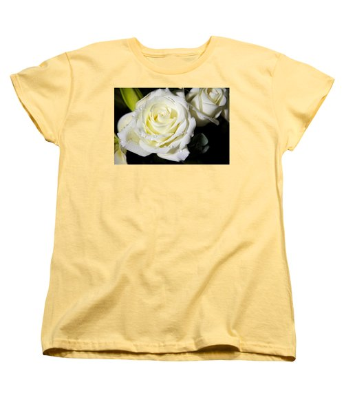 White Rose Women's T-Shirt (Standard Cut) by Dave Files