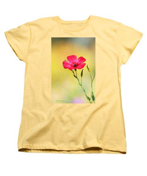Women's T-Shirt (Standard Cut) featuring the photograph Wild Red Flower by Tom Janca