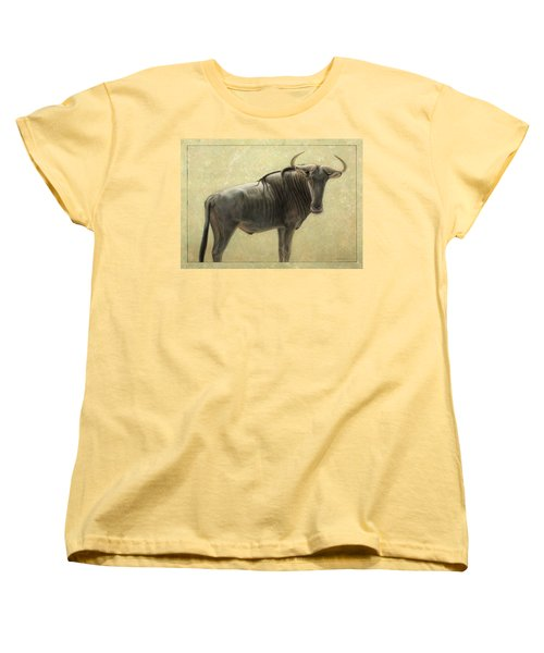 Wildebeest Women's T-Shirt (Standard Cut) by James W Johnson