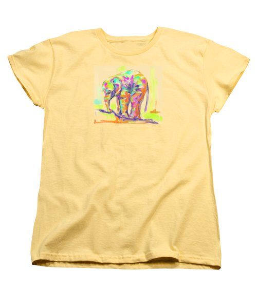 Wildlife Baby Elephant Women's T-Shirt (Standard Cut) by Go Van Kampen