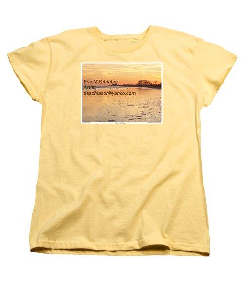 Wildwood Sunset Women's T-Shirt (Standard Cut) by Eric  Schiabor