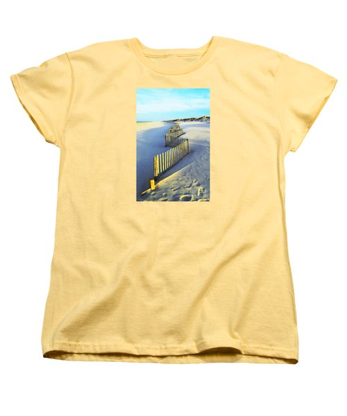 Windswept At Sunset - Jersey Shore Women's T-Shirt (Standard Cut) by Joseph J Stevens