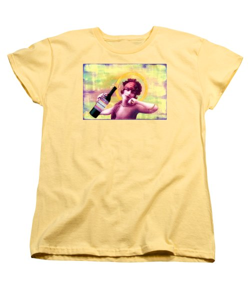 Women's T-Shirt (Standard Cut) featuring the painting Wine Of Love by Desiree Paquette