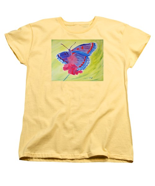 Women's T-Shirt (Standard Cut) featuring the painting Winged Delight by Meryl Goudey