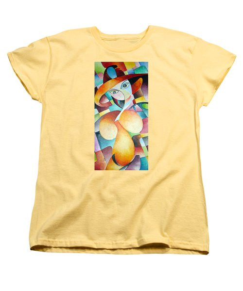 Women's T-Shirt (Standard Cut) featuring the painting Woman by Dorothy Maier