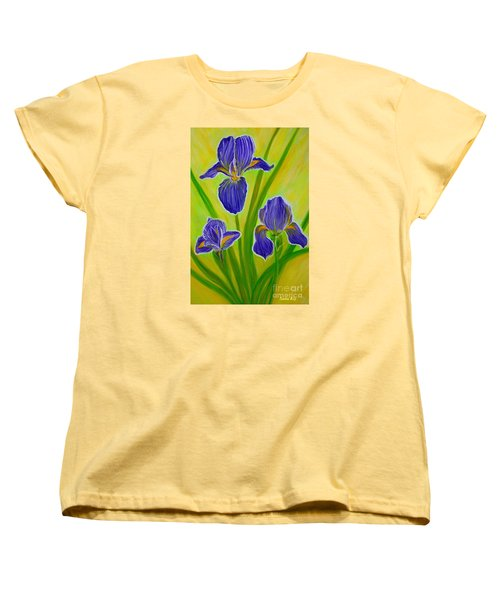 Wonderful Iris Flowers 3 Women's T-Shirt (Standard Cut) by Oksana Semenchenko