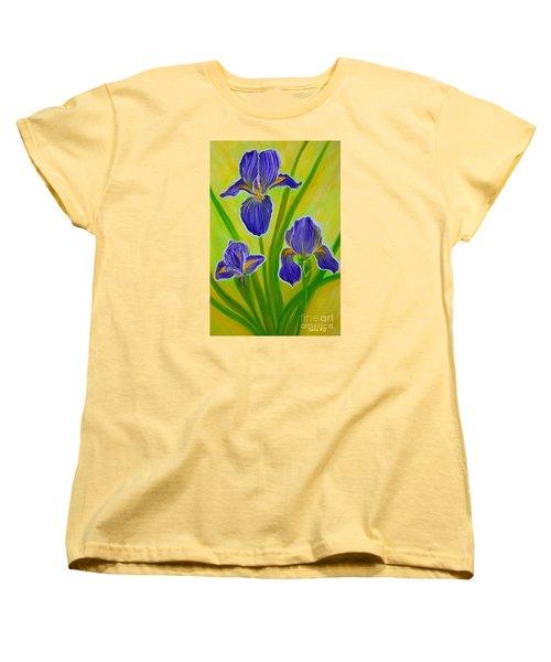 Wonderful Iris Flowers 3 Women's T-Shirt (Standard Cut)