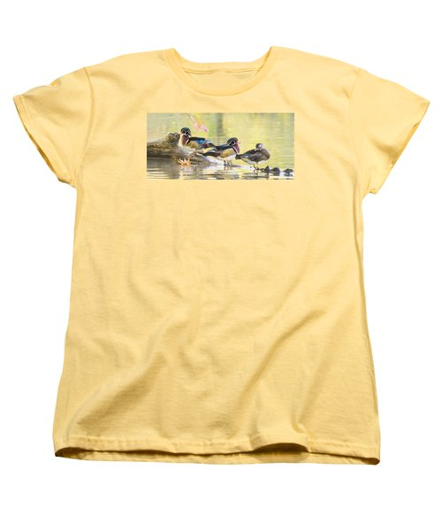 Wood-ducks Panorama Women's T-Shirt (Standard Cut) by Mircea Costina Photography