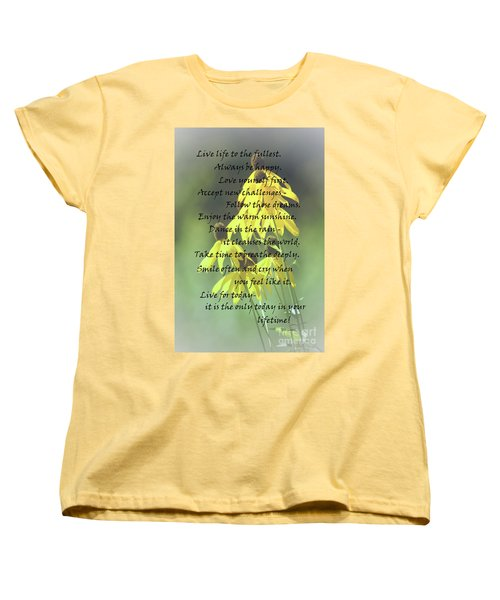 Women's T-Shirt (Standard Cut) featuring the photograph Words For My Teen by Cathy  Beharriell
