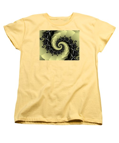 Women's T-Shirt (Standard Cut) featuring the digital art Yellow Brick Road Detour by Elizabeth McTaggart