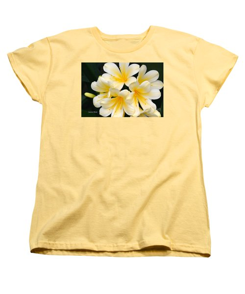 Women's T-Shirt (Standard Cut) featuring the photograph Clivia Yellow Flowers by Jeannie Rhode