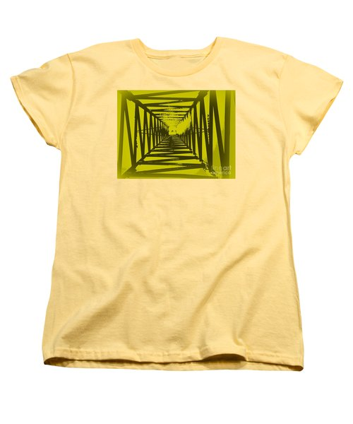 Women's T-Shirt (Standard Cut) featuring the photograph Yellow Perspective by Clare Bevan