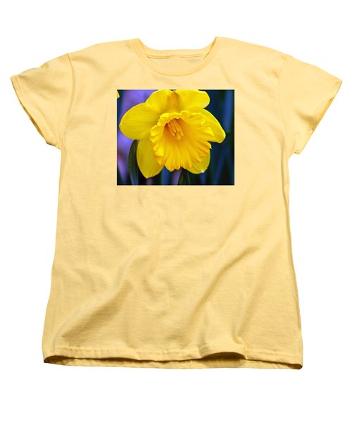 Women's T-Shirt (Standard Cut) featuring the photograph Yellow Spring Daffodil by Kay Novy