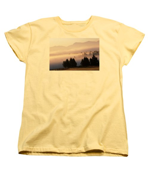 Yellowstone Sunrise Women's T-Shirt (Standard Cut) by Steve Archbold