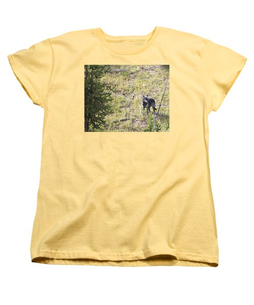 Yellowstone Wolf Women's T-Shirt (Standard Cut) by Belinda Greb