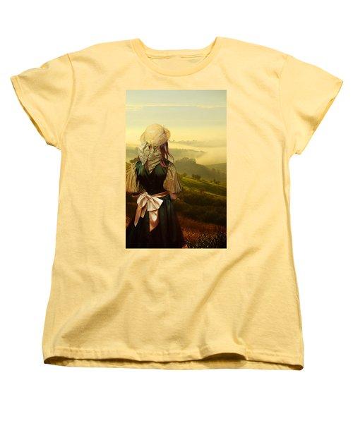 Young Traveller Women's T-Shirt (Standard Cut) by Jaroslaw Blaminsky