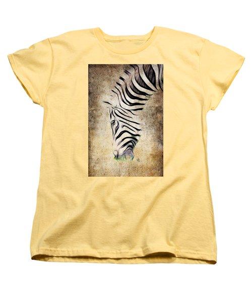Zebra Fade Women's T-Shirt (Standard Cut) by Steve McKinzie
