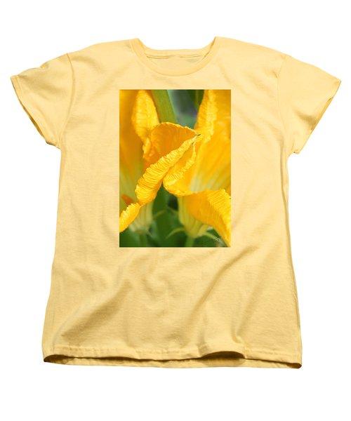 Zucchini Flowers In May Women's T-Shirt (Standard Cut) by Kume Bryant