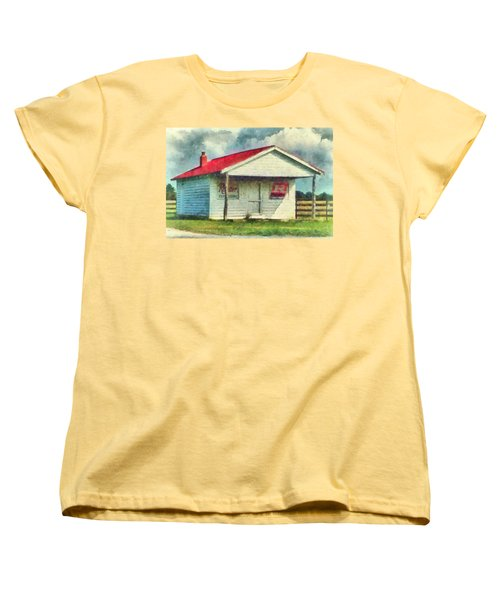 Women's T-Shirt (Standard Cut) featuring the painting Royster Fertilizers  by Lynne Jenkins