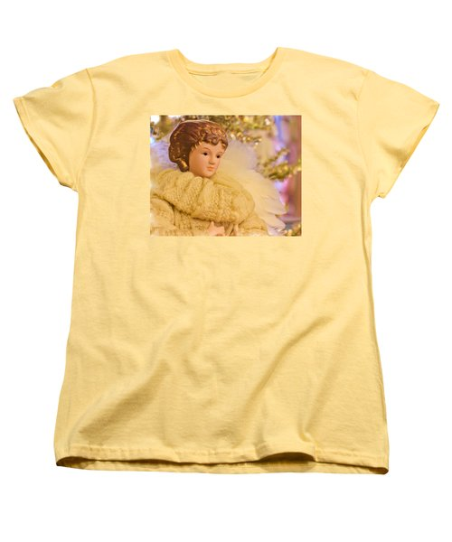 Women's T-Shirt (Standard Cut) featuring the photograph A Christmas Angel by Heidi Smith